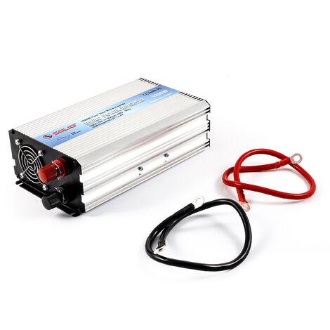 Inverter a onda sinusoidale pura 12V, 1200W. Convertitore di tensione. Campeggio. Autoveicolo solare 140052
