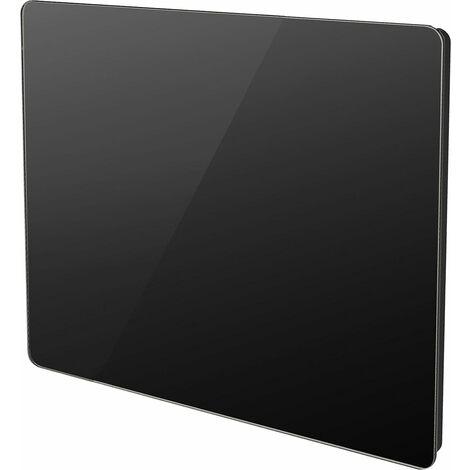 Radiateur électrique panneau rayonnant noir finition verre - multimode - VOLTMAN - 1000W IP24 NF CE - Noir