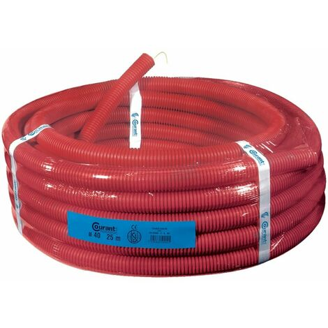 Conduit isolant TPC annelé rouge