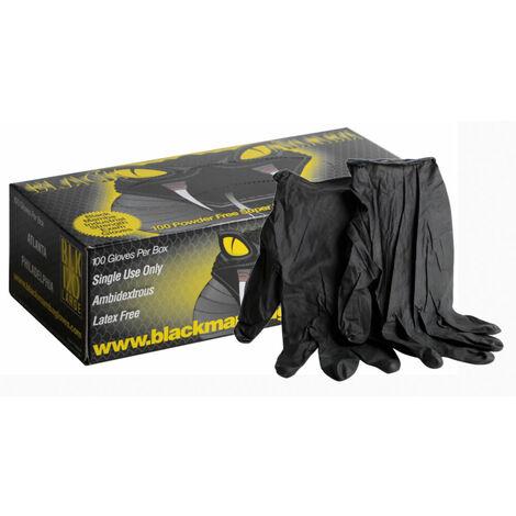Boîte 100 gants BLACK MAMBA L - 8/9 - Taille L - 8/9