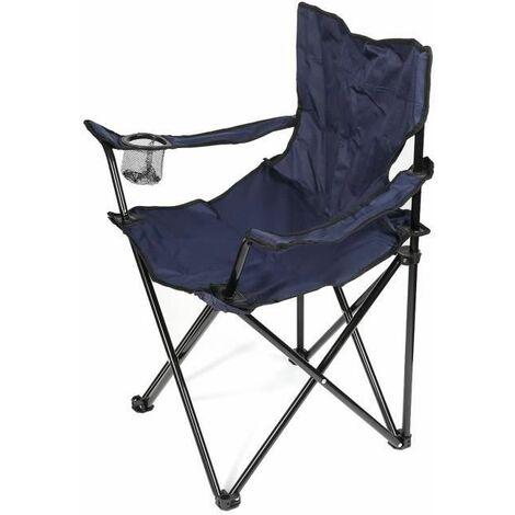 HU BLEU Multi-Fonction Extérieur Chaise Pliante Pour Pêche Jardin Camping