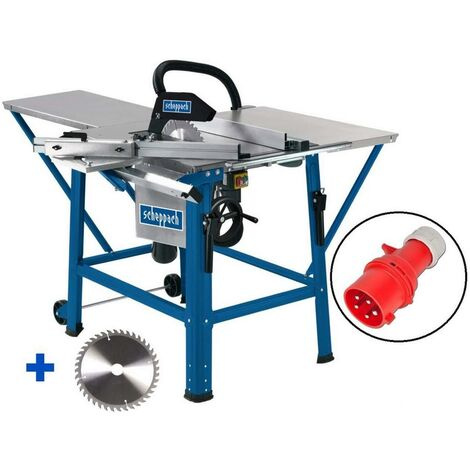 400V TABLE SAW WITH SLIDING TABLE CARRIAGE 315MM 2800W SCHEPPACH TS310
