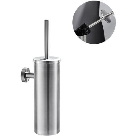 Auralum WC Bürste mit Halter Edelstahl Toilettenbürste Set Langer Stiel klobürste und schnell trocknendem Haltersatz fürs Bad oder Gäste-WC