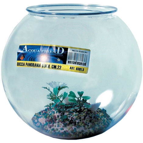 Plastic bowl aquarium with panorama