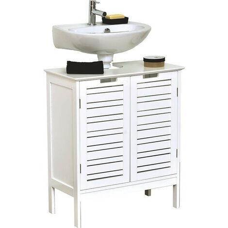 Meuble sous lavabo blanc Miami - Blanc