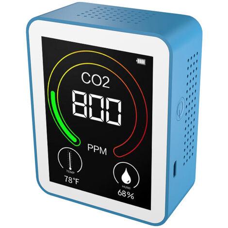 Detector de CO2, detector de aire inteligente, medidor portatil de temperatura y humedad, monitor de dioxido de carbono