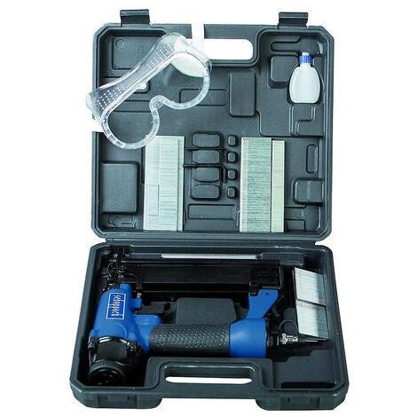 Scheppach - Clavadora 15 a 50 mm / Grapadora neumática 16 a 40 mm