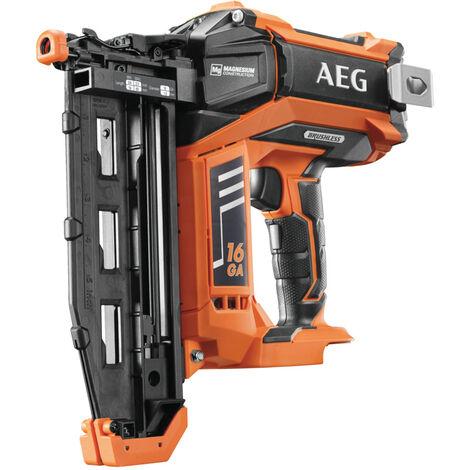 AEG - Clavadora de acabado 16Ga Brushless 18V sin batería ni cargador 1,6 mm (19 a 65 mm de longitud) - B16N18-0