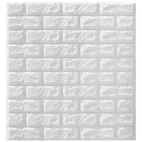 10 piezas 3D impermeable pared de ladrillo autoadhesivo papel pintado autoadhesivo 70x77cm