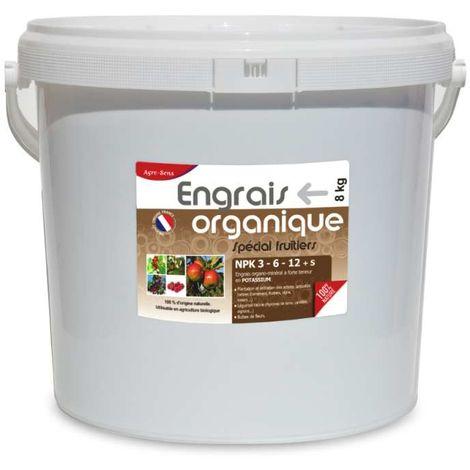 Engrais professionnel pour fruitiers 8 kg UAB. NPK 3-6-12
