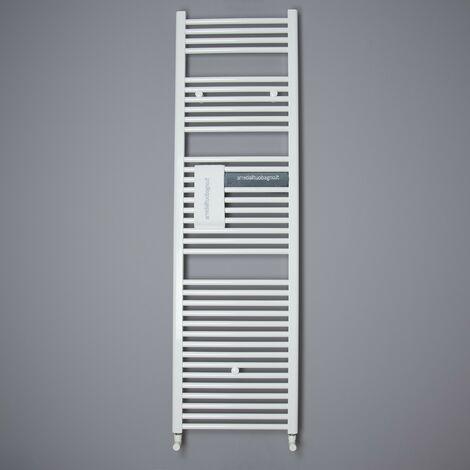 Scaldasalviette Termoarredo Alto Dritto Bianco Lazzarini Sanremo 170,3x45 Cm Interasse 40 cm