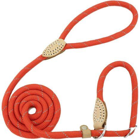 Laisse Dressage Chien Lasso Laisse Réfléchissant Laisse pour Chiens Petits, Moyens, Grands et Très Lourds - 1,5cm de Diamètre x 120cm de Longue(Rouge)