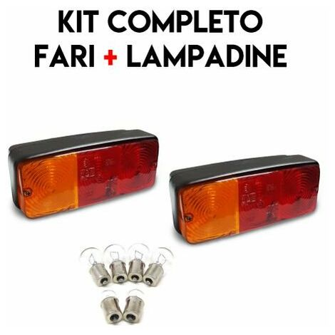 COPPIA FANALE FARO POSTERIORE TRATTORE CARRELLO RIMORCHIO + LAMPADINE *20179/2*