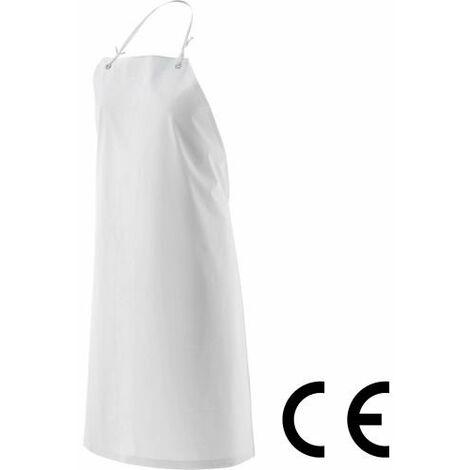 GREMBIULE PVC BIANCO CON PETTORINA CM 90X120 PER CASEIFICIO O MACELLERIA (22019)