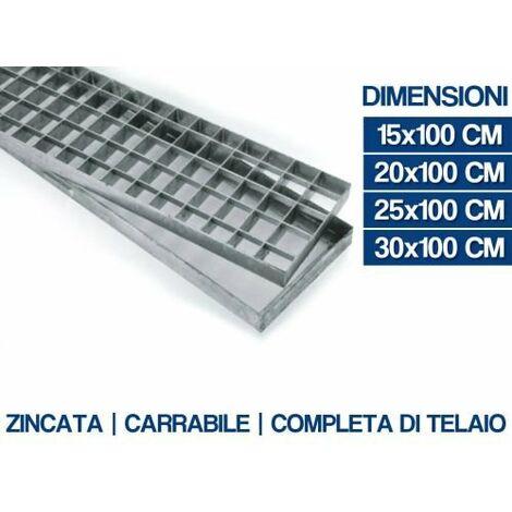 GRIGLIA ZINCATA CARRABILE CON TELAIO VARIE MISURE (16963V)