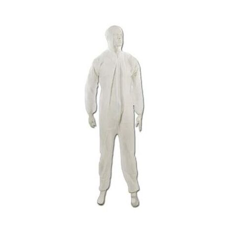 Silverline 580467 Disposable White Overall Protective Decorating Overall Suit - Medium - 120cm