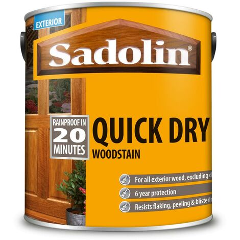 Sadolin Quick Dry Woodstain - Jacobean Walnut - 1L