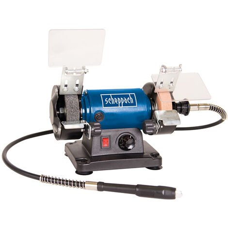 """Scheppach HG34 3"""" Grinder Polisher with Tool Kit & Flexi Drive"""