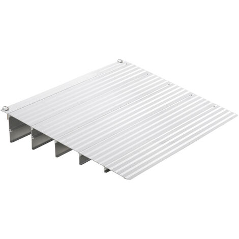 HOMCOM Rampa Sedia a Rotelle Lunghezza Regolabile Alluminio Antiscivolo H12.5cm