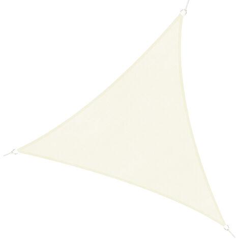 Outsunny Tendone parasole triangolare in HDPE, crema, 3x3x3m