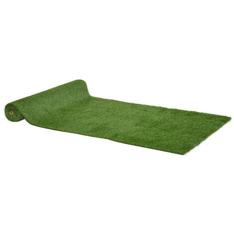 Outsunny Tappeto Erboso Sintetico 4x1m Erba 30mm, Finto Prato Verde Anti-UV Atossico e Drenante per Giardino e Cortile