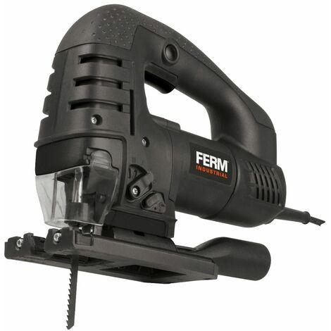 FERM Seghetto alternativo 750W. Velocità variabile-Lama Ø100mm - Include Adattatore per aspirapolvere