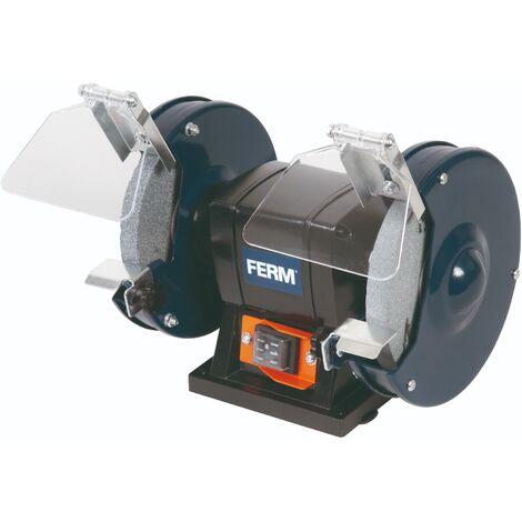 FERM Molatrice da banco 150W 150mm - Include 2 mole