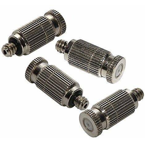 O'Fresh 075 - Confezione di 4 ugelli antigoccia per nebulizzazioni di alta qualità in acciaio inox