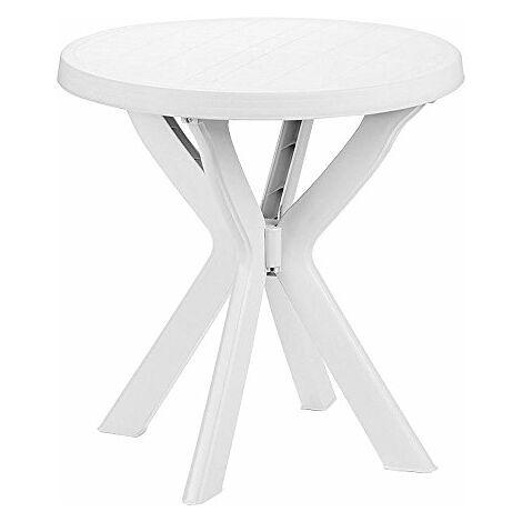 Saturnia 8330135–Tavolo Rotondo, 70x 72x 70cm, Colore: Bianco