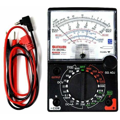 Tester Analogico Multimetro grande display YX-360TR classico a lancetta old styl