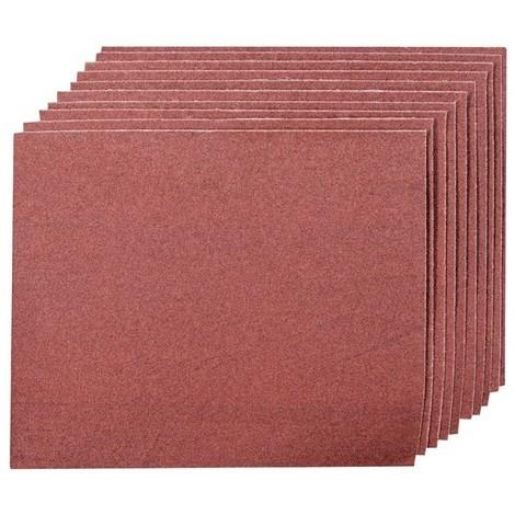 10 feuilles toile émery - Grain 80