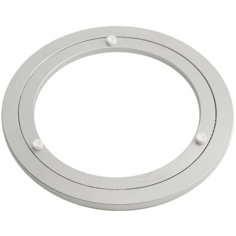 200x8.5mm Turntable Aluminum Table Rotary Rolling Tray Holder Kitchen Cake Mohoo