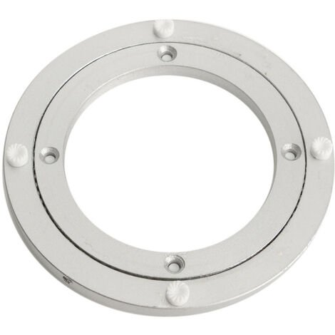 140x8.5mm Turntable Aluminum Table Rotary Rolling Tray Holder Kitchen Cake