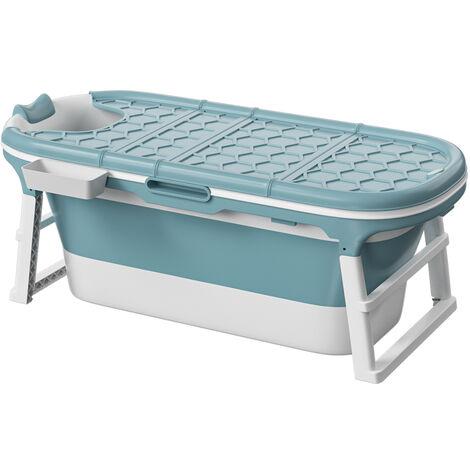 Portable Folding Bathtub Bath Tub SPA Soaking Massage Barrel
