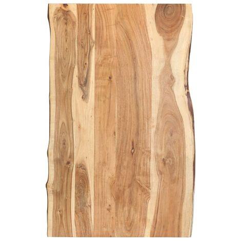 True Deal Dessus de table Bois d'acacia massif 100x60x3,8 cm