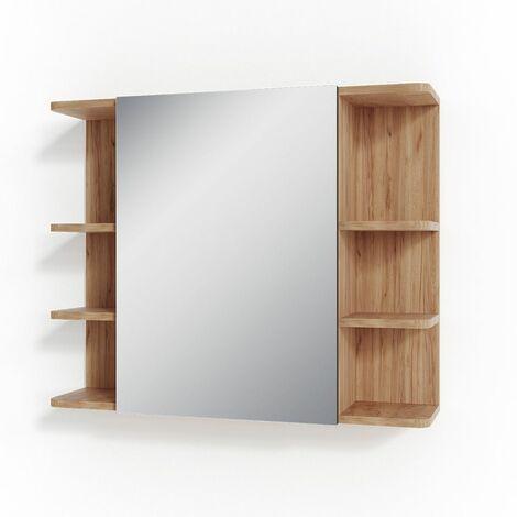 VICCO Spiegelschrank FYNN 80 x 64 Eiche Anthrazit Spiegel Badspiegel Wandspiegel