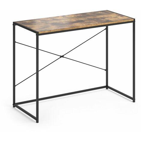 VICCO Loft Schreibtisch Fyrk Bürotisch Arbeitstisch PC Tisch Holz Natur 100 x 45