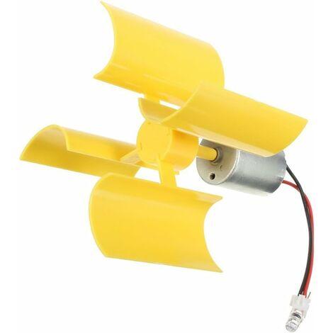 LITZEE 360 ° Micro éolienne Lames de turbines Verticales Mini-Moteur pour Le Bricolage