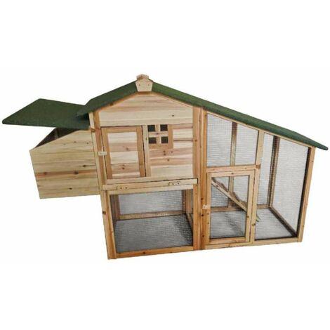 Poulailler surélevé en bois 3 à 4 poules 172x64x110cm Werkapro