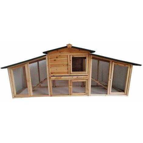 Poulailler surélevé en bois 5 à 6 poules 215x56x87cm Werkapro