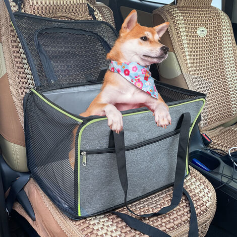 Foldable Travel Dog Booster Car Seat Protector Cover Pet Puppy Carrier Basket