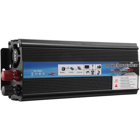 5000W 12V-220V AC Convertisseur de tension Onduleur solaire LED Noir