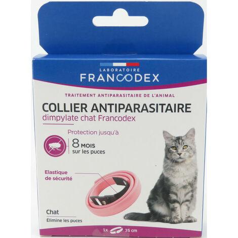 Collar de control de plagas de Dimpylate para gatos. 35 cm. Color rosa.