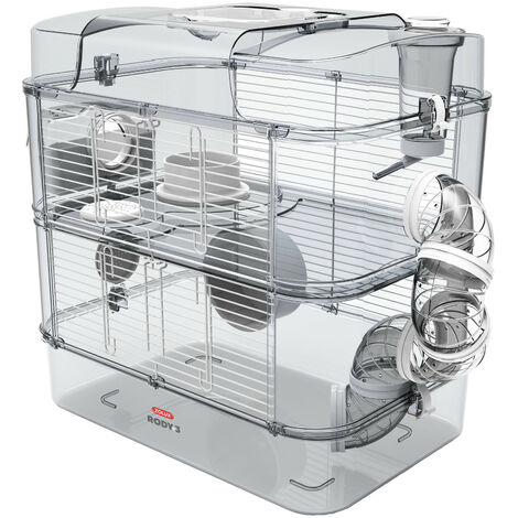 Cage Duo rody3. color White. size 41 x 27 x 40.5 cm H. for rodent