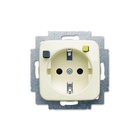 Fi-Steckdose 1f elf-ws gl UP m.BS IP21 ZP elfenbein-weiß glz horiz/vert