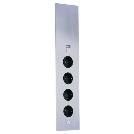 Thebo Eck-Steckdosenelement RIVA 4f Steckdose, 1 USB Port, Edst, 2m