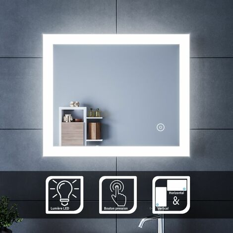 Miroir salle de bain Lumineux Anti-bu