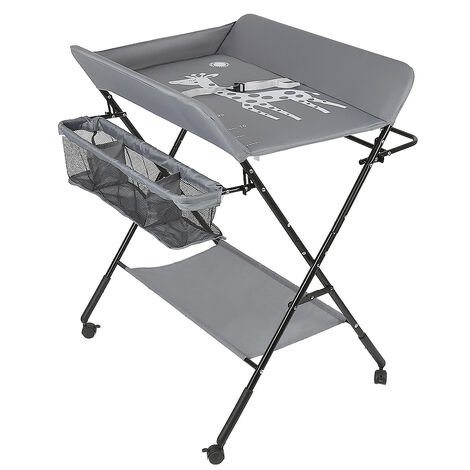 Folding Changing Table with Storage Basket for Newborns Baby