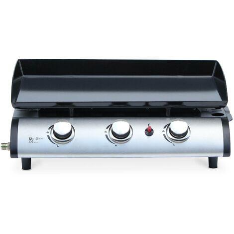 Plancha au gaz 3 feux - Porthos 3 brûleurs - 7.5 kW. barbecue. cuisine extérieure. grande plaque émaillée. inox