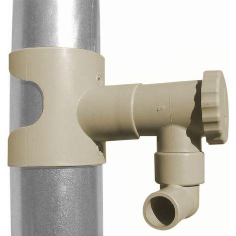 plastique marron INEFA R/écup/érateur d/'eau de pluie pour descente DN 50 goutti/ère de pluie goutti/ère de toit marron 31 ST 31 cm